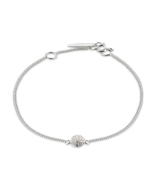 Isabel Lennse - Metallic Mini Sphere White Diamond Bracelet - Lyst