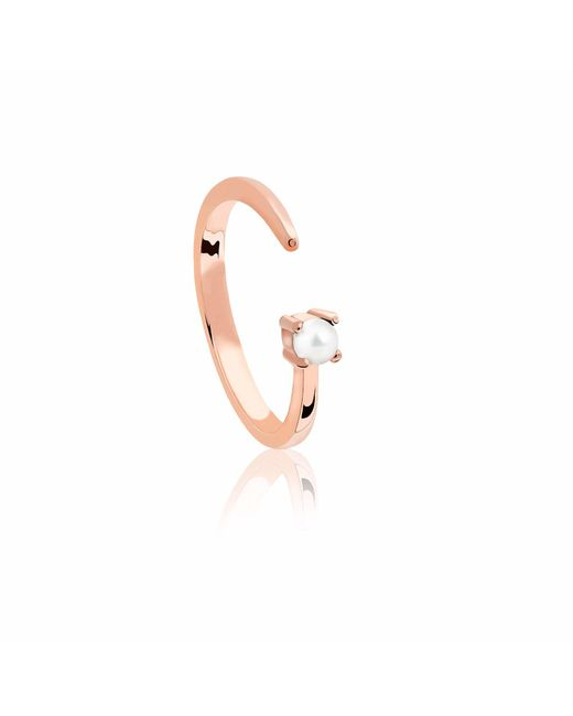 Astrid & Miyu - Metallic Gemini Zodiac Ring In Rose Gold - Lyst