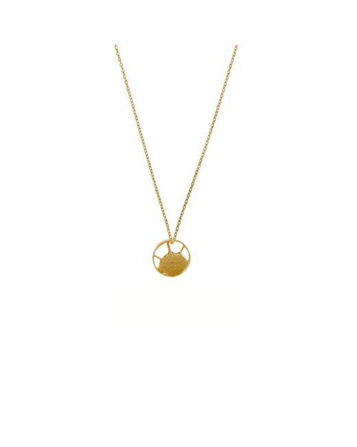 KIND Jewellery | Metallic Gold Mini Soleil Disc Necklace | Lyst