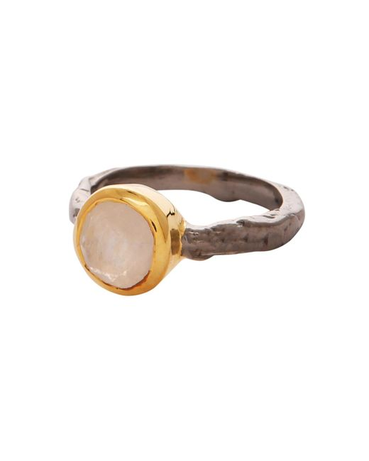 Carousel Jewels - Metallic Moonstone Gold And Silver Mix Ring - Lyst