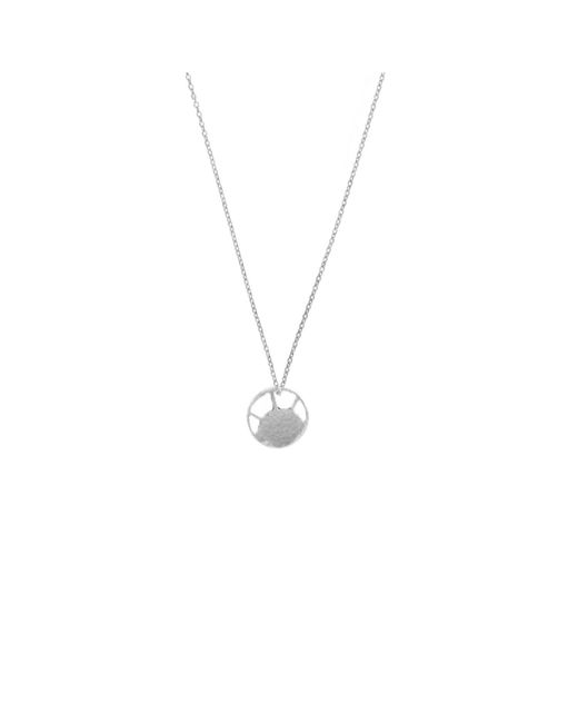 KIND Jewellery | Metallic Silver Mini Soleil Disc Necklace | Lyst