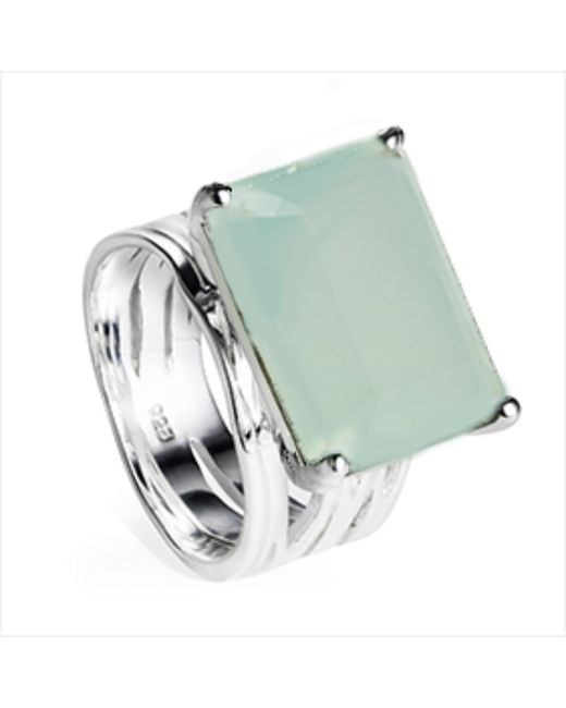 Neola | Metallic Pietra Sterling Silver Cocktail Ring Aqua Chalcedony | Lyst