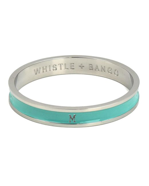 Whistle & Bango | Metallic 'm' Alphabet Bangle Mint | Lyst