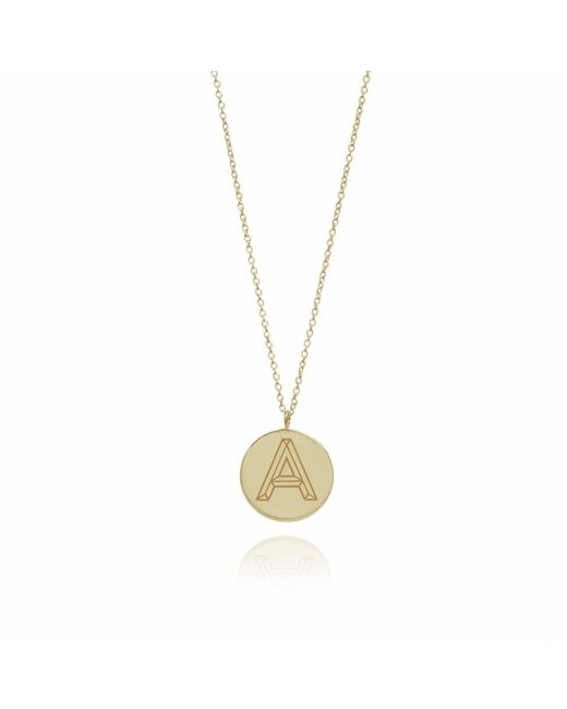 Myia Bonner | Metallic Gold Facett Initial Necklace A-z | Lyst