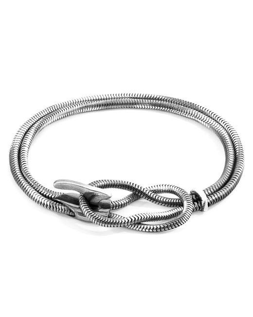 Anchor & Crew - Metallic Silver Padstow Mooring Chain Bracelet for Men - Lyst