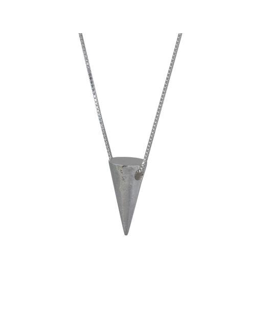 Edge Only - Metallic Men's Large 3d Cone Pendant Silver for Men - Lyst