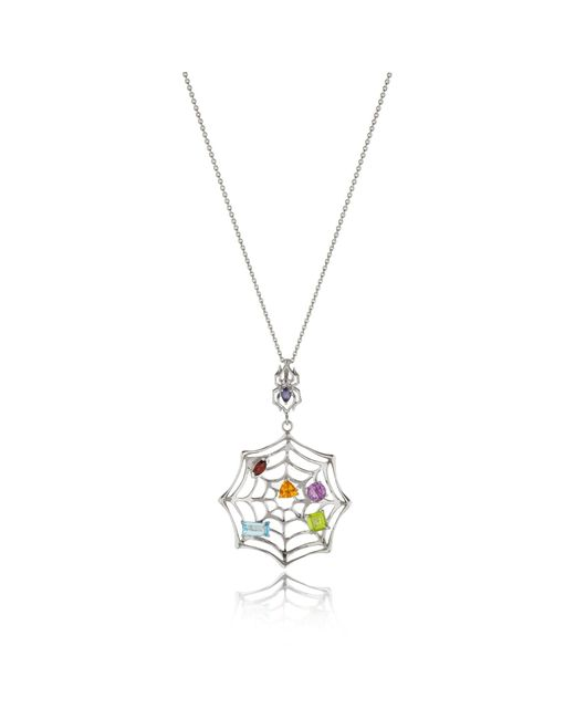 Manja | Metallic Anansi Necklace Silver | Lyst