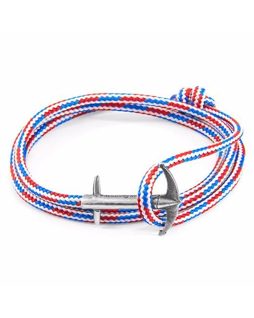 Anchor & Crew - Metallic Silver Staysail Double Sail Chain Bracelet for Men - Lyst