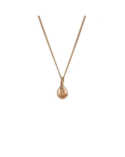 Edge Only - Metallic Teardrop Pendant In 14ct Gold - Lyst
