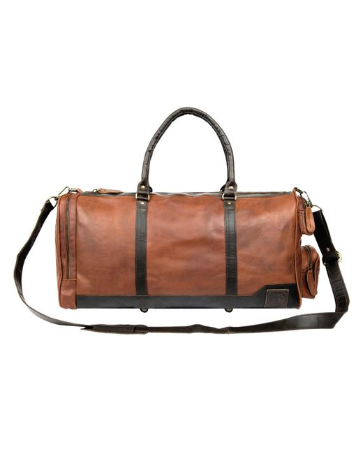 MAHI Leather - Leather Columbus Holdall In Vintage Brown With Mahogany Details for Men - Lyst