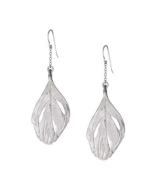 Chupi | Metallic Maxi Swan Feather Earrings Silver | Lyst