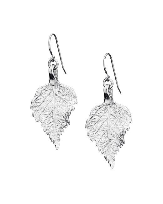 Chupi | Metallic Tiny Raspberry Leaf Earrings Silver | Lyst