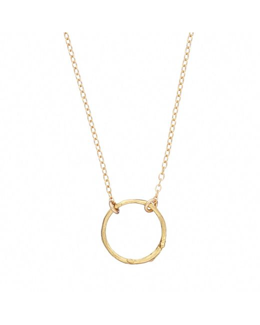 Chupi | Metallic Hawthorn Twig Infinity Necklace Gold | Lyst