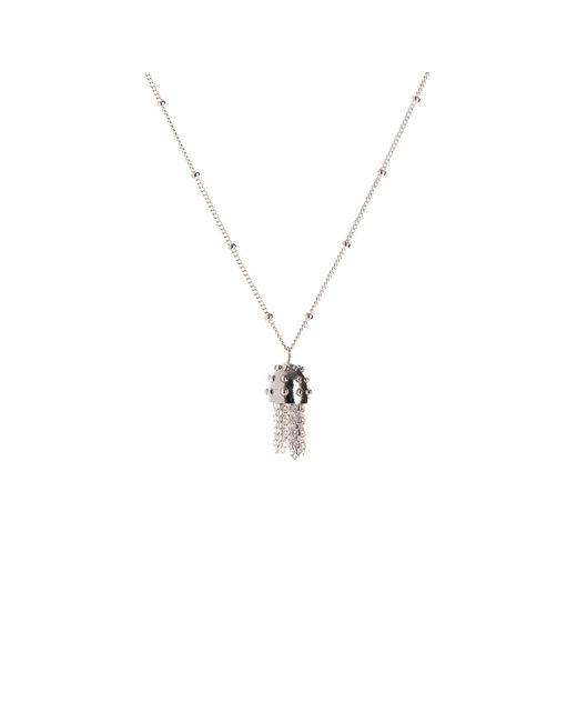 Nina Kastens Jewelry | Metallic Mini Tassel Necklace Silver | Lyst