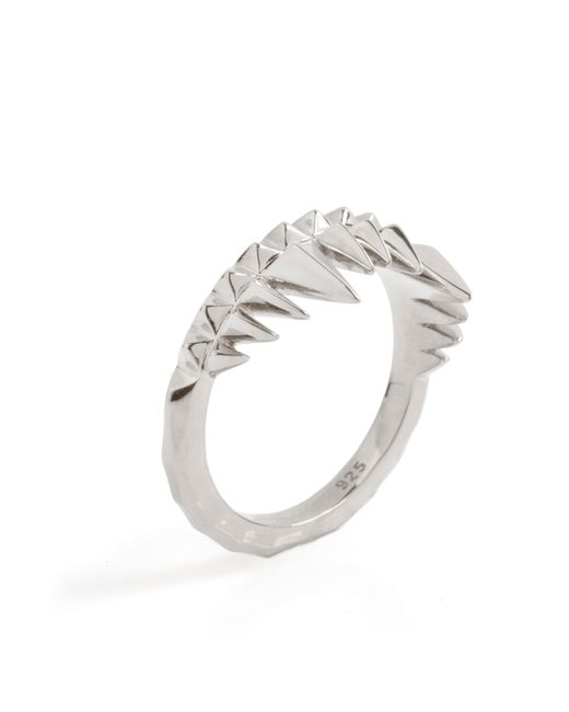 Kasun | Metallic Crocodile Bite Ring Silver | Lyst