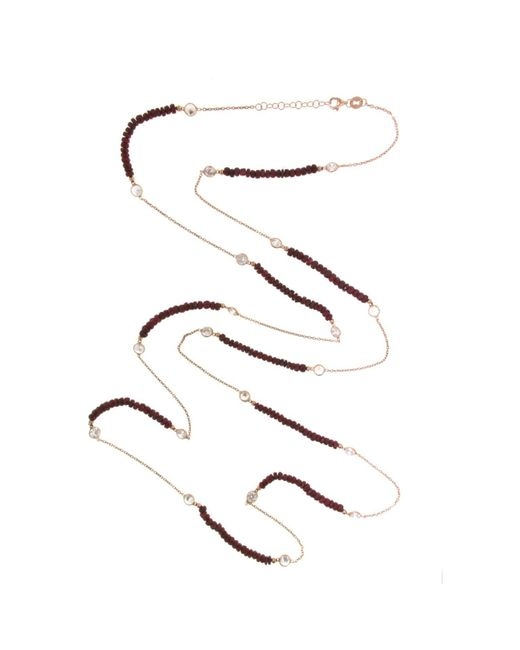 Cosanuova - Red Long Ruby Necklace - Lyst
