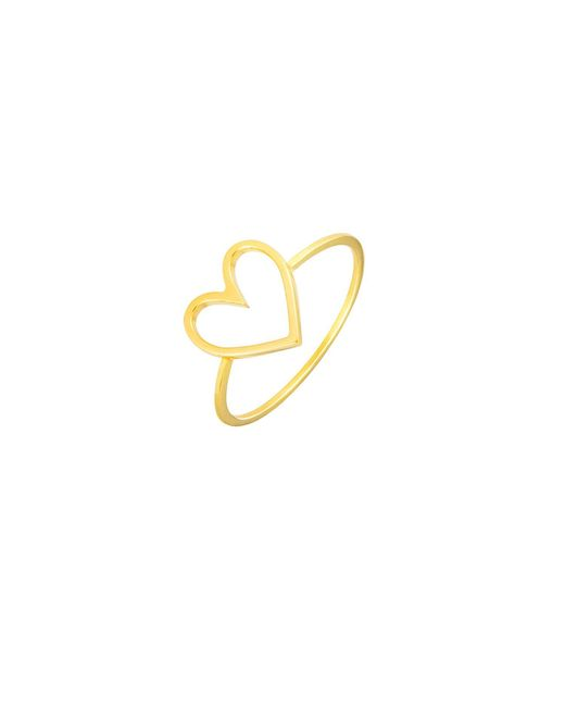 Glenda López - Metallic The Heart Stickering - Lyst