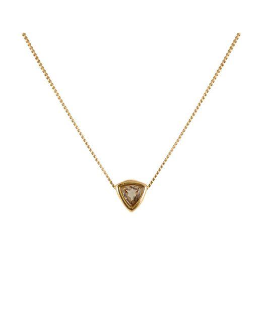 Lee Renee - Metallic Smoky Quartz Trillion Cut Necklace - Lyst