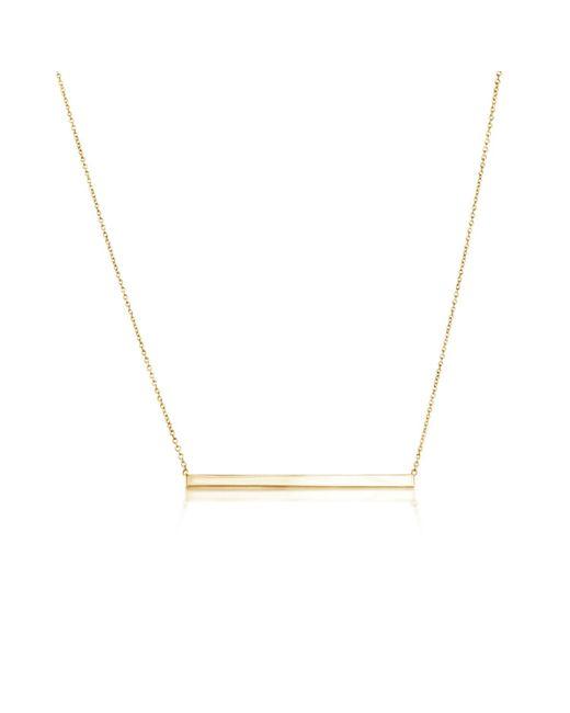 Talia Naomi   Metallic Finish Line Necklace Gold   Lyst