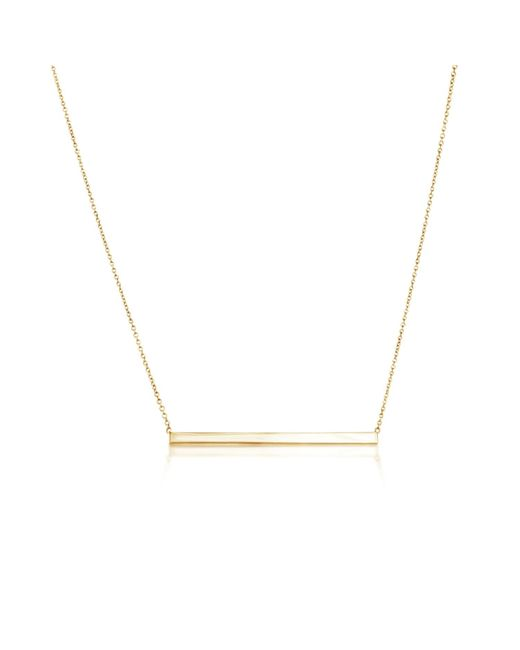 Talia Naomi | Metallic Finish Line Necklace Gold | Lyst