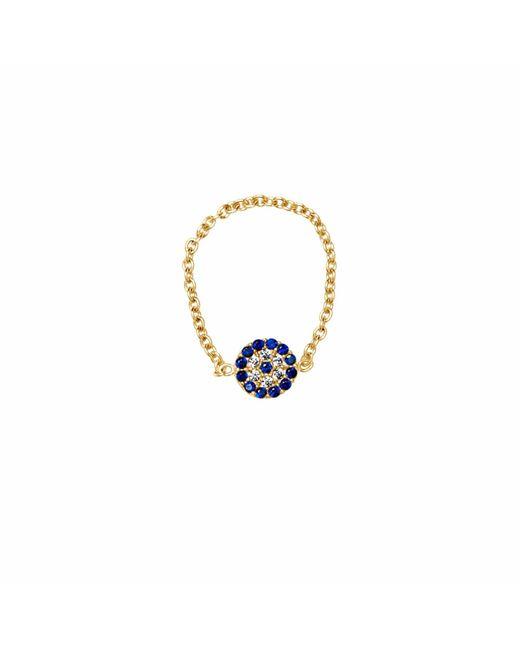 Talia Naomi | Metallic See No Evil Chain Ring Gold | Lyst