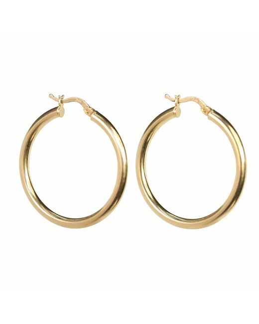 Talia Naomi | Metallic Khaleesi Rounded Hooped Earrings Gold | Lyst