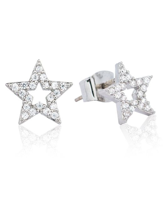 Astrid & Miyu | Metallic Tricks Star Stud Earrings Silver | Lyst