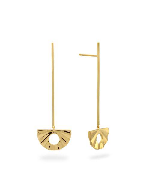 Monarc Jewellery - Metallic Fan Pendulum Drop Earrings Gold - Lyst