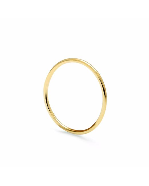 Myia Bonner | Metallic Silver Ultra Skinny Square Stacking Ring | Lyst