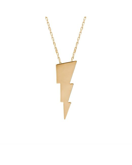 Edge Only - Metallic Triple Bolt Necklace In Gold - Lyst