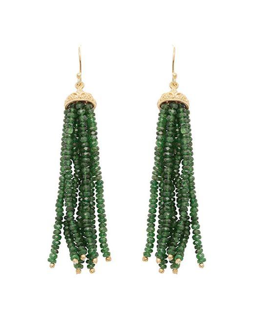 Carousel Jewels - Multicolor Gold & Chrysoprase Waterfall Earrings - Lyst