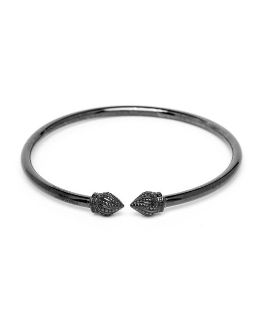 Durrah Jewelry - Black Graphite Cylinder Bangle - Lyst