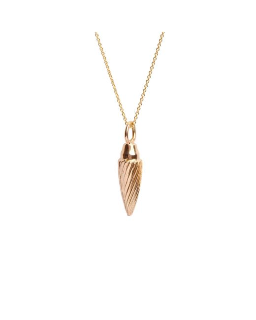 Edge Only - Metallic Spiral Drop Pendant Gold - Lyst