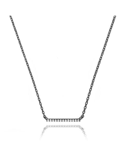 Astrid & Miyu - Multicolor Walk The Line Big Bar Necklace In Gunmetal - Lyst