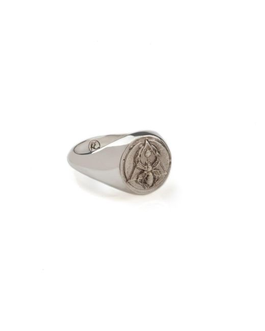 Rachel Entwistle | Metallic The Creation Signet Ring Silver | Lyst