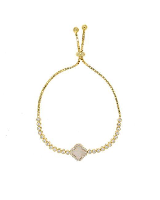 Cosanuova - Metallic Gold Opal Clover Bracelet - Lyst