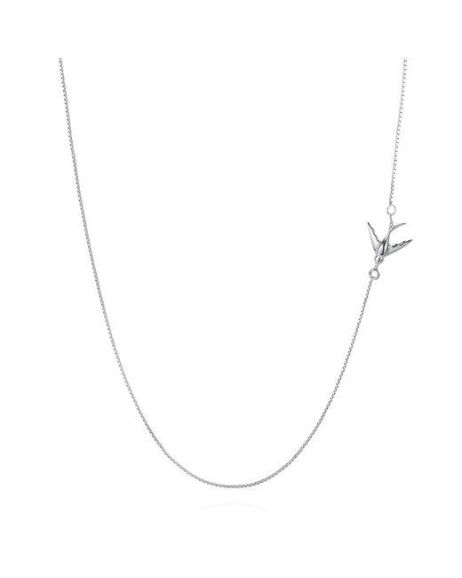 Lee Renee   Metallic Swallow Necklace Silver   Lyst