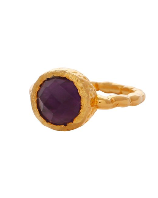 Carousel Jewels - Multicolor Amethyst Gold Textured Ring - Lyst