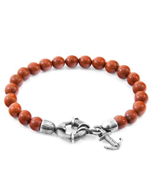 Anchor & Crew - Red Jasper Port Natural Stone Bracelet for Men - Lyst