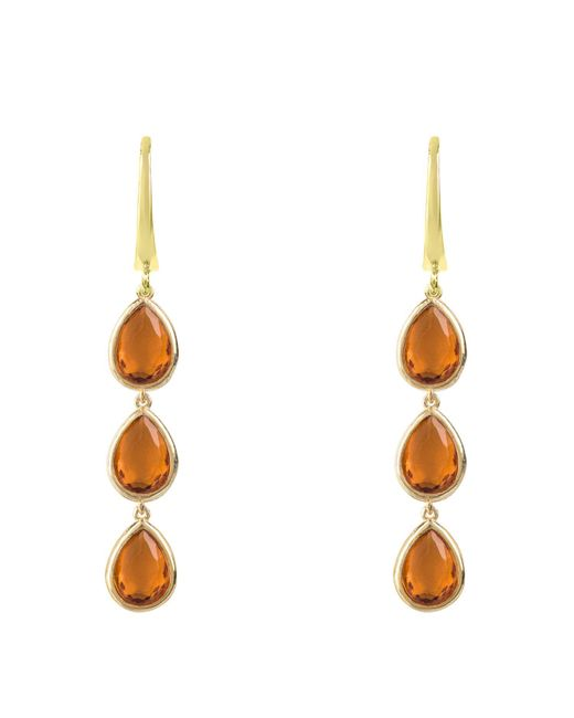 Latelita London - Metallic Sorrento Triple Drop Earring Gold Citrine - Lyst