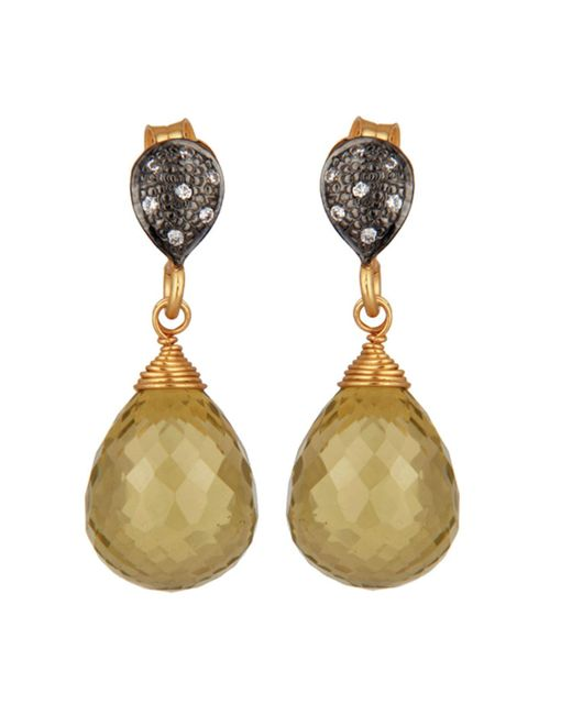 Carousel Jewels - Multicolor Crystal & Lemon Topaz Drop Earrings - Lyst