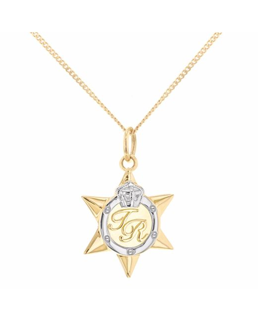 True Rocks - Metallic Mini Two Tone Star Medal Gold & Silver - Lyst