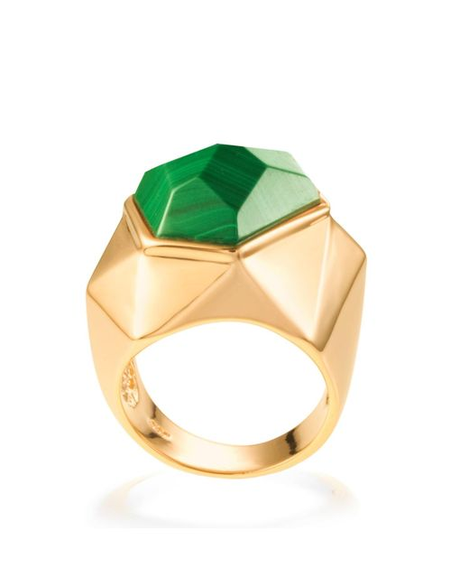 Ona Chan Jewelry | Green Lattice Cocktail Ring Malachite | Lyst