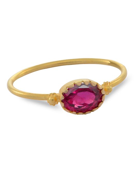Emma Chapman Jewels | Grecian Gold Red Spinel Ring | Lyst