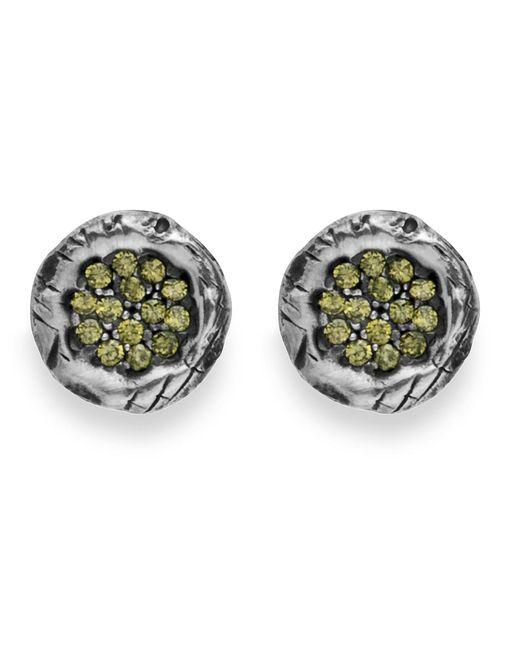 Platadepalo | Metallic Green Zircon Silver Earrings | Lyst