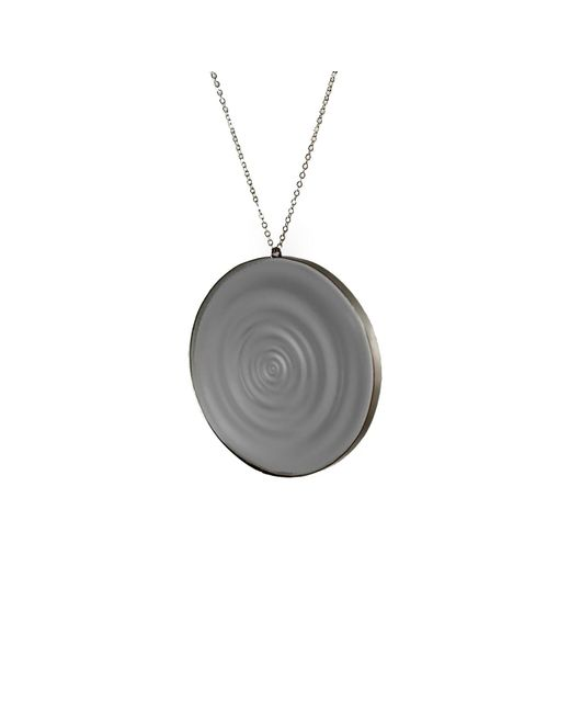 MARIE JUNETM Jewelry - Full Ripples Smokey Black Pendant - Lyst