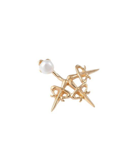 Leivan Kash   Metallic Dagger Ear Jacket Gold   Lyst