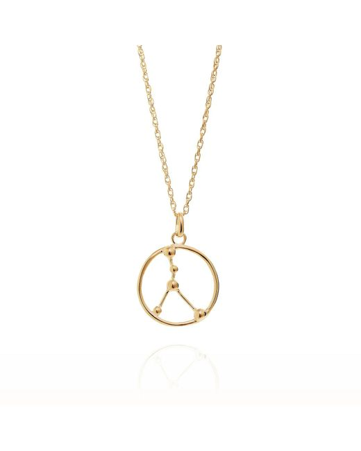Yasmin Everley Jewellery - Metallic Cancer Astrology Necklace In 9ct Gold - Lyst