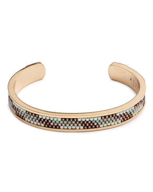 Azuni London | Metallic Nacona Narrow Bangle In Mountain for Men | Lyst