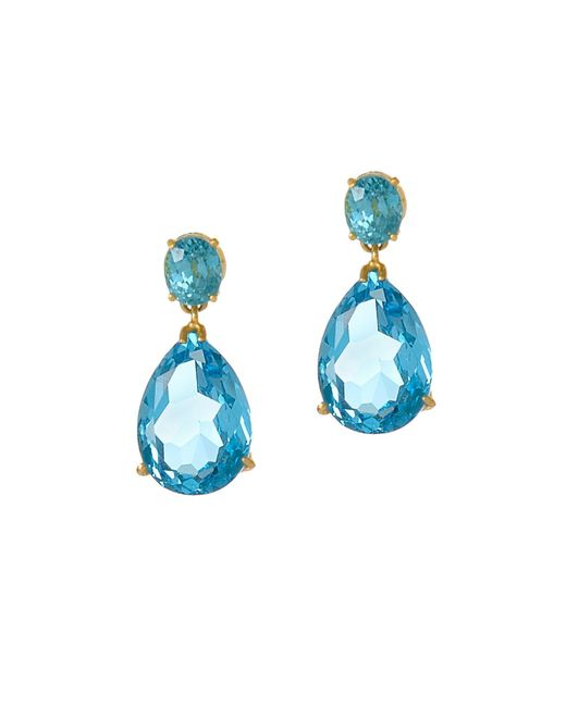 Alexandra Alberta | Blue Kate Topaz Earrings | Lyst
